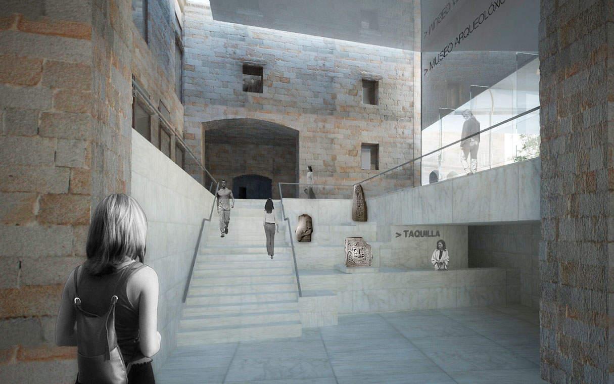 Interior del museo arqueológico de Orense