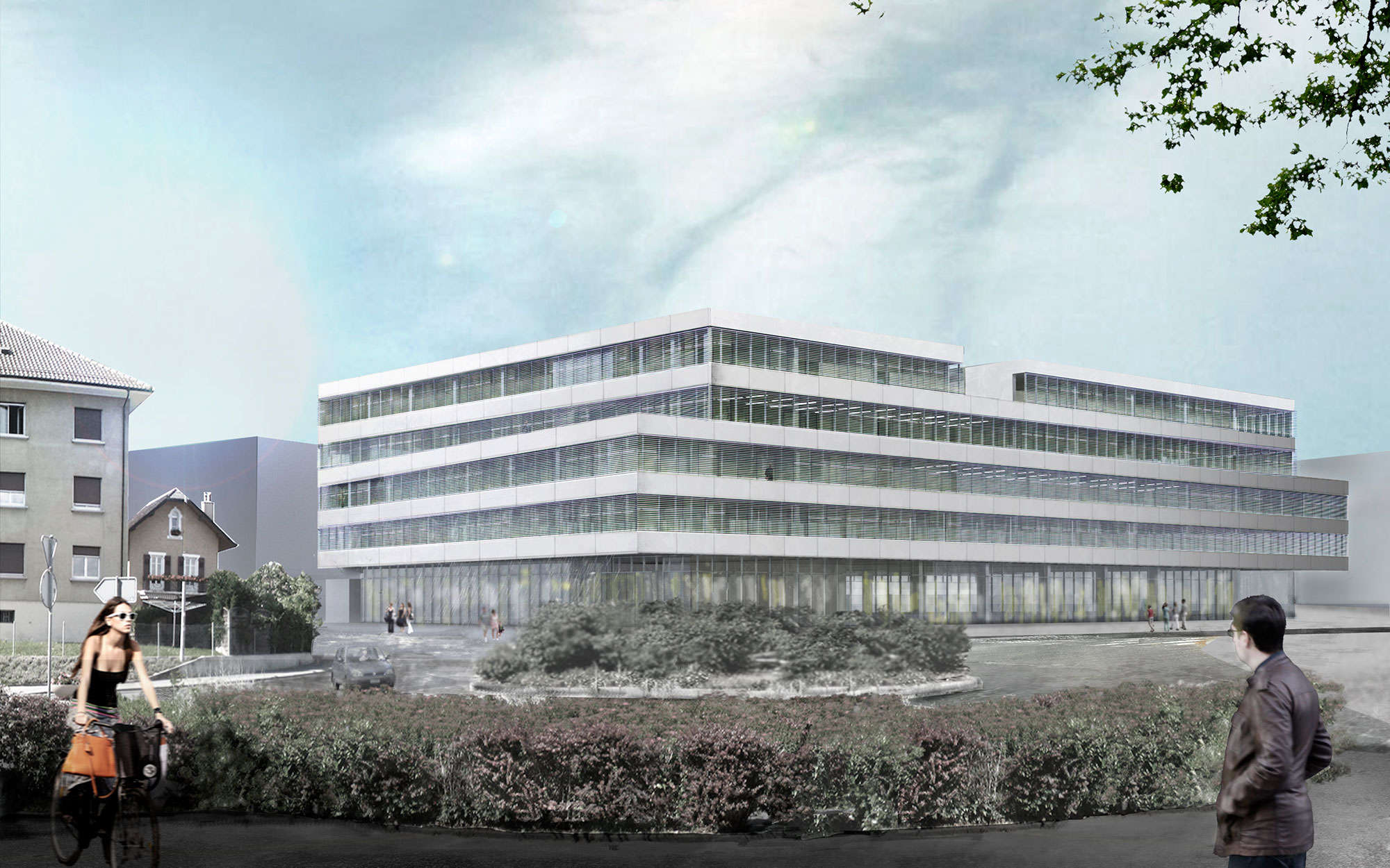 Edificio educación secundaria en Lausanne