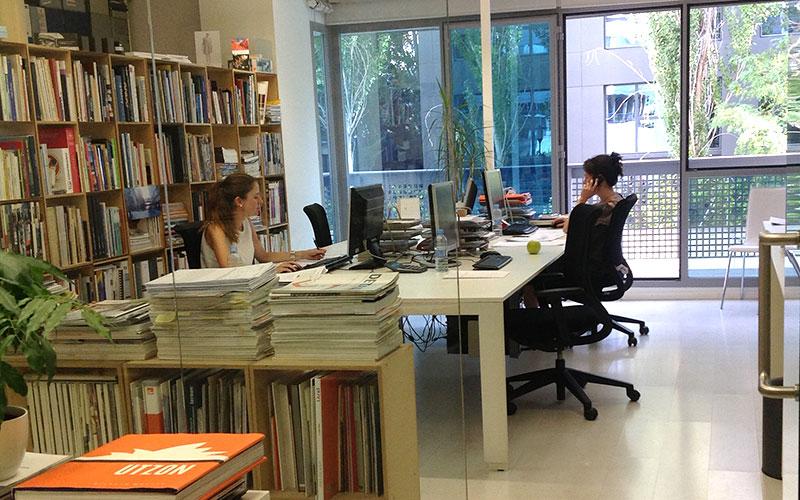 vista interior del estudio Arbau Arquitectos